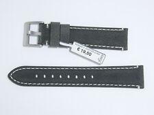 "FLUCO Genuine Vintage Leather Watch Band Strap 20 mm Slate Green ""Woodstock"""