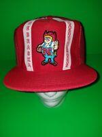 Vintage Nebraska Cornhuskers Stripe Snapback Trucker Hat. RARE. NEW