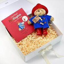 PERSONALISED Book & Teddy Gift : Paddington Bear Story Book Gift Set : Boxed