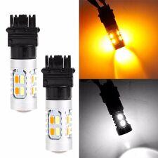 1Pc x 3157 5630 5W 12V 20 SMD LED Light Car Dual Color Switchback Brake Bulbs
