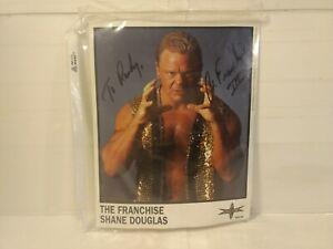 The Franchise Shane Douglas WCW Wrestling Autographed Signed Sheet n254