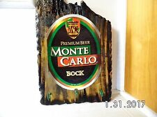 Handmade Rustic Wooden Monte Carlo Bock Beer Bar Sign/ Key Holder 2017 Original