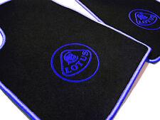 Black velours carpet set for Lotus Esprit S1 S2 S3 SE 1976-1993 Logo blue