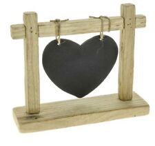 TELAIO in legno naturale con cuore da appendere GESSO Board Lavagna Matrimonio Casa