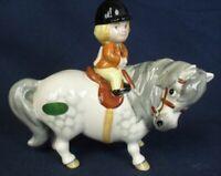 Beswick Thelwell comic horse figure grey gloss ANGEL ON HORSE BACK 1981-1989