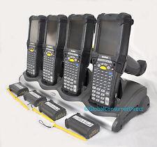 LOT OF 4x Motorola MC9090G MC9090 WM 5.0 Laser Barcode Scanner +CRADLE +Warranty