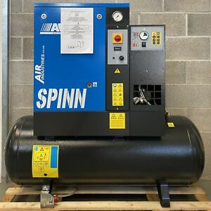 New! ABAC SPINN5.5 270 Receiver Mounted Rotary Screw Compressor + Dryer! 27.5Cfm