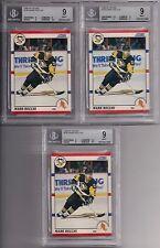 1990-91 Score #186 Lot (3) MARK RECCHI BGS 9 MINT Rookies RC Pittsburgh Penguins