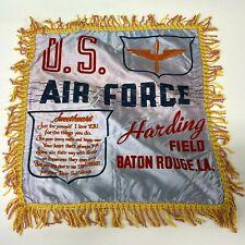 VTG WW2 Satin Pillow case sham Harding Field Baton Rouge US Army Air Force  - P8