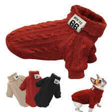 Soft Knit Dog Sweaters Dog Clothes Dog Pet Puppy Jumpers Coat  POLO Neck Sweater