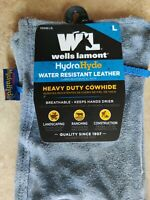 Wells Lamont HydraHyde Water Resistant Leather Work Gloves-Heavy Duty Cowhide, L