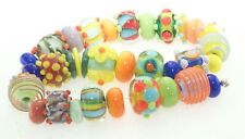 OliveStuart Handmade Lampwork Beads 33 bright round