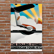 The Rolling Stones Concert Poster 1972 American Tour Canvas Art Print