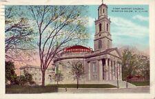 "FIRST BAPTIST CHURCH. WINSTON-SALEM, NC 1934 ""and they sell Schlitz"""