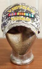 MILITARY Official Licensed Headwear Vietnam Vet Camo Hat Cap U.S. Warriors