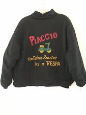Vintage 80s Men's Poshboy Quilted Bomber Jacket Piaccio Vespa Scooter