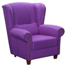 Bristol Ohrenbackensessel Sofa Sessel Einzelsessel Samtiger Veloursstoff lila