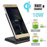 10W Qi Wireless Fast Charger Holder Stand Dock Pad Desk For iPhone XS MAX XR 8 X