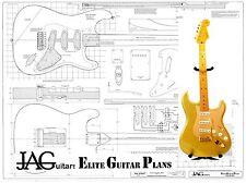 Luthiers el plan del proyecto/Dibujo Para Stratocaster SUPERPLAN P063 Fender Standard