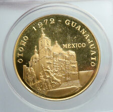 1972 MEXICO City Guanajuato Festival VINTAGE Medal PROOF GOLD Coin ANACS i90422