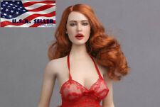 "1/6 Sexy Female Head Sculpt GC017 D For 12"" PHICEN Hot Toys Figure Doll ❶USA❶"