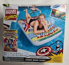 SwimWays Marvel Comic Book Float Captain America Inflatable Raft Pool Lake Toy