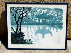 Lu Fang Chinese Woodblock Print Xiaoyingzhou in Early Spring
