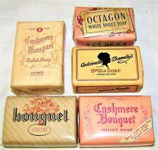 5--VINTAGE--BAR SOAPS--HAND / BATH--BEAUTY SOAP--TOILET SOAP--E