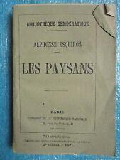 Alphonse ESQUIROS : LES PAYSANS, 1871. Rare étude.