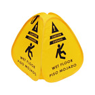 Pop-up Caution Wet Floor Sign 16in for Restaurant, Commercial and Industrial Saf