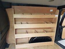 VW Caddy Van Storage accessories Van Plywood Racking Off Side