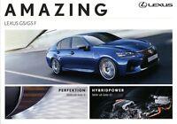 Lexus GS und GS F Prospekt 2016 Amazing Autoprospekt brochure prospectus catalog