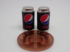 1:12 Scale 2 Empty Pepsi Max Drink Tin Dolls House Miniature  Drink Accessory
