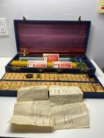 Vintage Official 1968-69 Game Set National Mah Jongg League In 31st Year NY