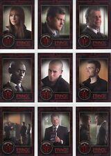 """Fringe Season 1 & 2 """"Universe B"""" 9 Card Chase Set D01 - D09"""