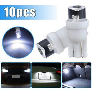 10x White T10 LED Bulb W5W 194 168 Wedge Side Light Backup Tail Lamp Side Marker