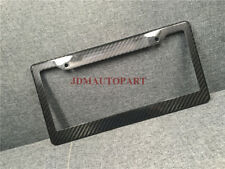 REAL 100% CARBON FIBER LICENSE PLATE FRAME TAG COVER NEW SPECIAL OFFER