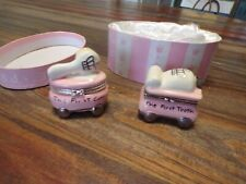 Mud Pie My First Collection Baby Girl Ceramic Keepsake Box Tooth & Curl