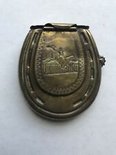 EARLY 1900'S VESTA MATCH SAFE AND TINDER LIGHTER HORSE EQUESTRIAN DESIGN