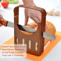 Pro Bread Slicer Cutter Mold Maker Slicing Cutting Guide Loaf Toast Kitchen Tool
