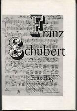 Fritz Hug - Franz Schubert