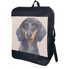 Dachshund Watercolour Backpack School Bag Travel Personalised Backpack
