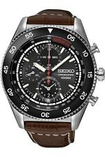 SEIKO MAN'S WATCH CHRONOGRAPH DATE 44MM LEATHER BAND Top SNDG57P2 German Manual