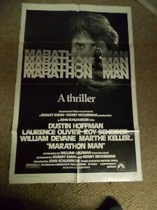 "MARATHON MAN(1976)DUSTIN HOFFMAN ORIGINAL ONE SHEET POSTER 27""BY41"" NICE"
