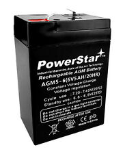 PowerStar® BATTERY 6V 6 VOLT SLA VRLA RECHARGEABLE 4, 4.5,5 AH 2 YEAR WARRANTY