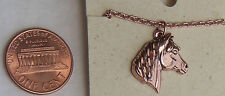 "Copper Pendant Horse 18"" Chain Necklace Wheeler Healing Arithitis Pain 157"
