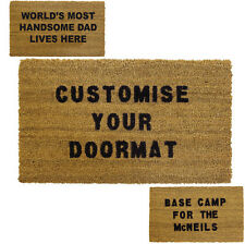 JVL Personalised Custom Coir Door Mat 40x70cm Wedding Home Gift House Warming