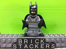 LEGO Batman Minifigure Dark Bluish Gray Suit Gold Belt Flesh Head Dimensions Set