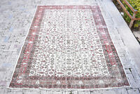 Turkish Rug 78''x114'' Vintage Light Muted Color Oushak Wool Carpet 200x292cm