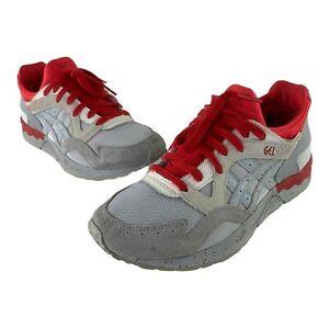 ASICS Gel Lyte V Mid Gray Suede Red Splatter Running Sneakers H7Q3N Men's US 7